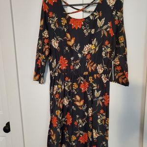 Marjorie Black Detail Brushed Knit Dress